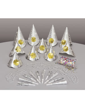Kit cotillon pour 10 personnes - Happy New Year Silver