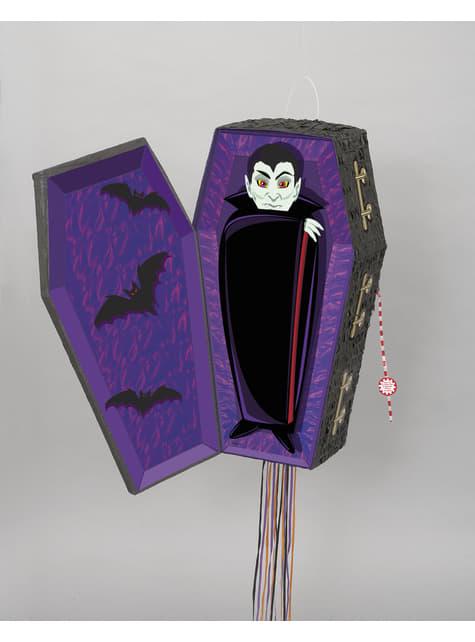 Vampire in coffin piñata - Basic Halloween