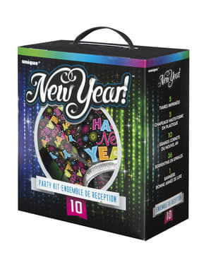 Kit de cotillón para 10 personas - Happy New Year