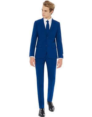 ティーンエイジャーのためのネイビーロワイヤルOpposuitsスーツ