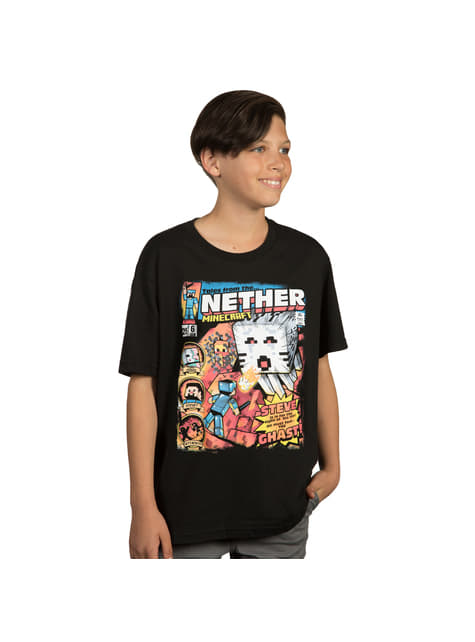Camiseta Minecraft Tales from the Nether infantil