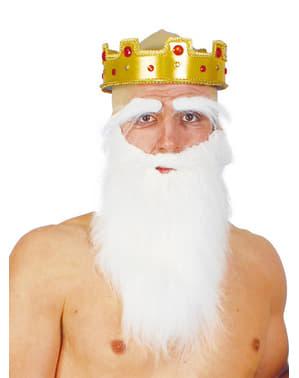 Biała duża broda
