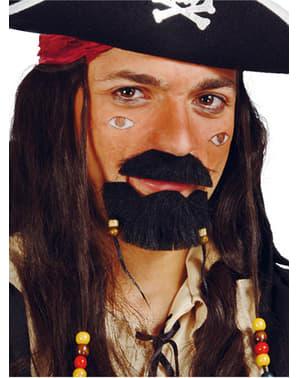 Piraten Bart und Kinnbart