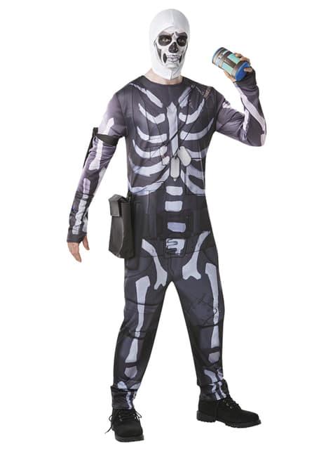 Fato de Fortnite Skull Trooper para adulto