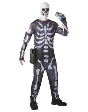 Maskeraddräkt Fortnite Skull Trooper för vuxen