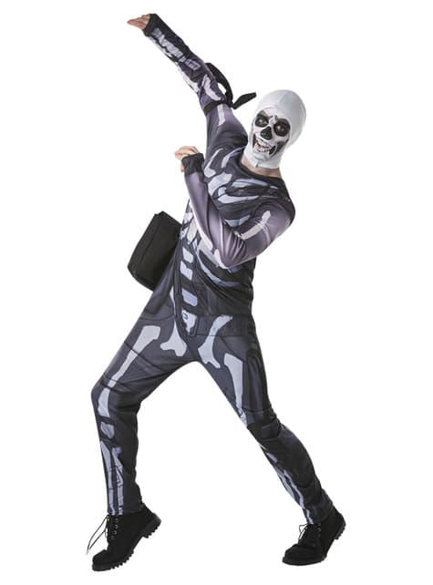 Kostium Skull Trooper dla nastolatków - Fortnite