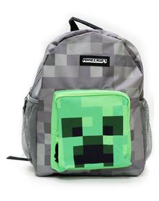 Batoh s kapsami Minecraft Creeper šedý ... dbed4704c3