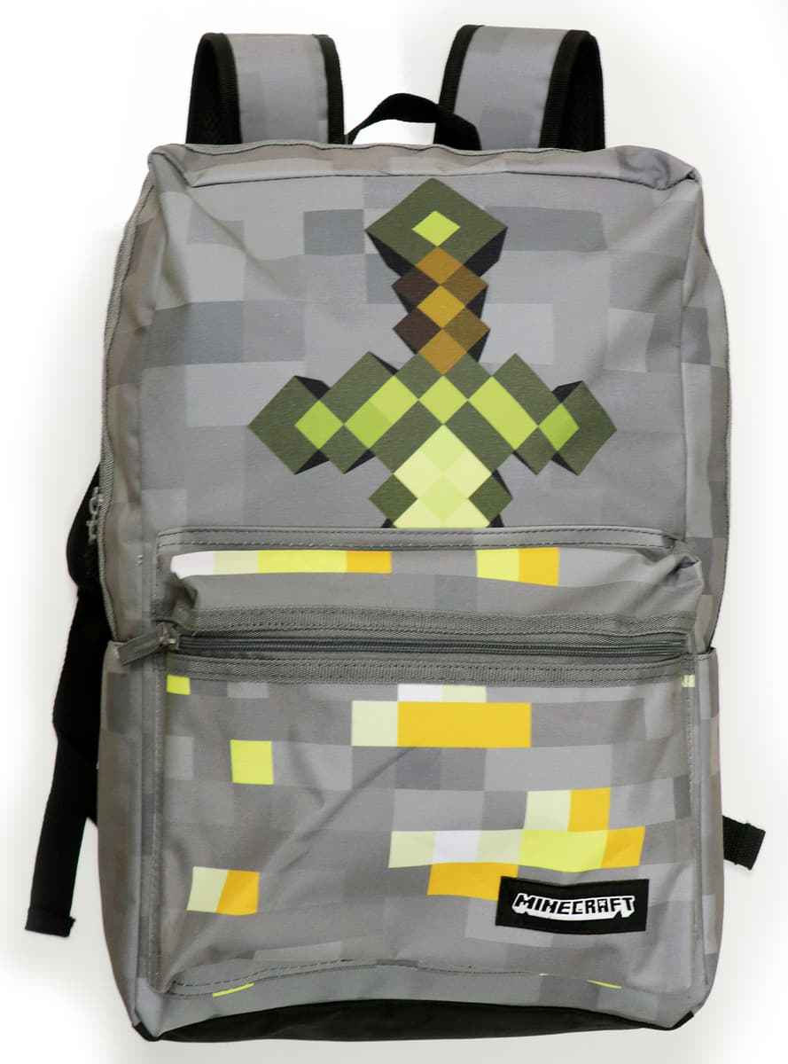 Grey Minecraft Sword Backpack To Go Back To School Funidelia