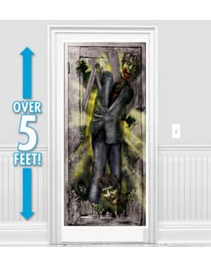 Décoration pour porte de zombie terrifiant