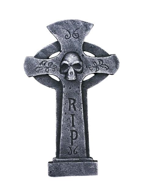 Lápide em cruz RIP