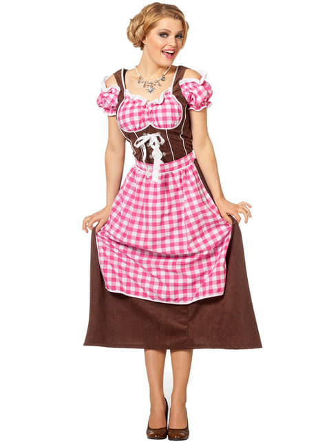 Pink Oktoberfest costume for women