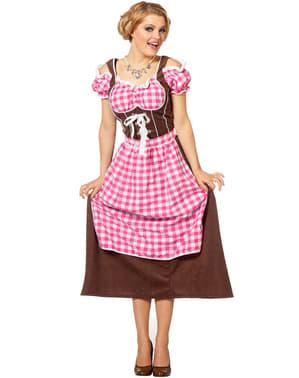 Fato de Oktoberfest cor-de-rosa para mulher