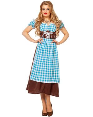 Blå Oktoberfest Dirndl til Damer