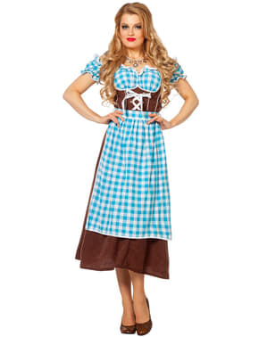 Blue Oktoberfest Dirndl for Women