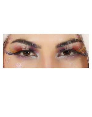 Flerfarvede øjenvipper til voksne