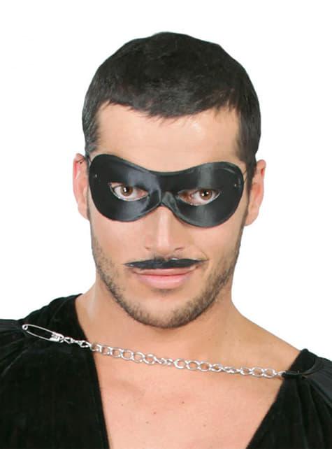 Antifaz Pierrot preto