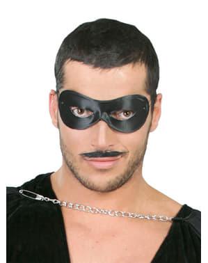 Schwarze Pierrot Maske