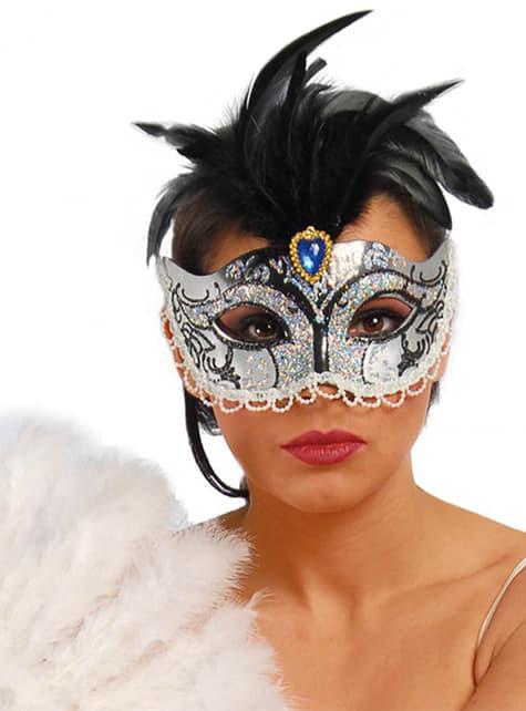 Silver Venetian Eyemask