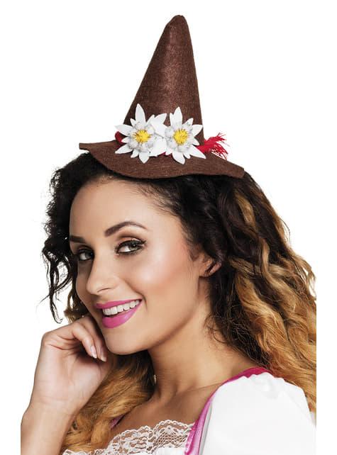 Sombrero estilo bávaro con edelweiss para adulto - para tu disfraz