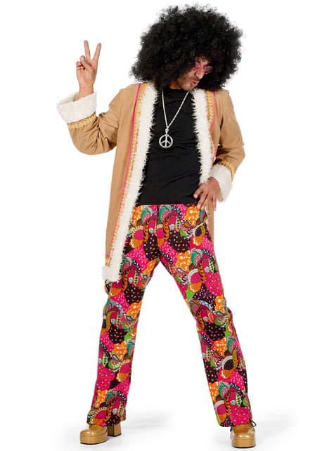 Beige hippie kostuum voor mannen
