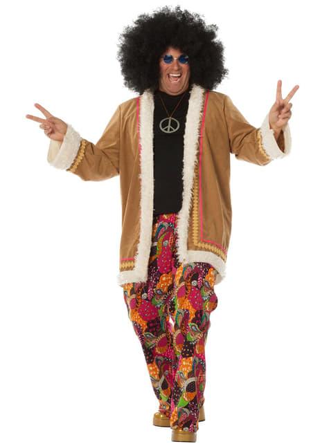 Beige hippie costume for men