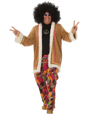 Bézs színű hippi jelmez férfiaknak