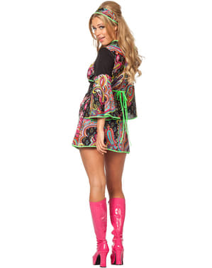 Neon hippie costume for women