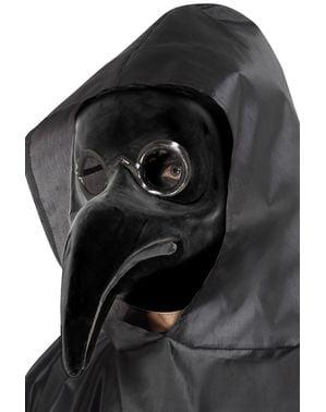 Masque médecin de peste noir adulte