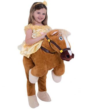 Piggyback Belle berijdt Philippe-kostuum - Belle en het beest