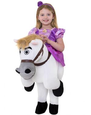 Kostým piggyback Rapunzel jede na Maxovi - Kráska a zvíře