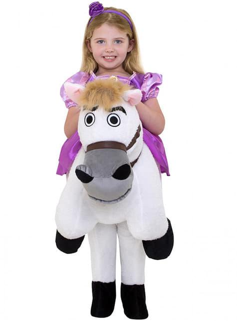 Fato de Rapunzel ride on para menina