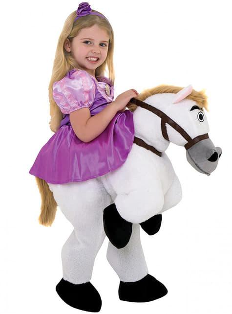 Disfraz de Rapunzel ride on para niña - original