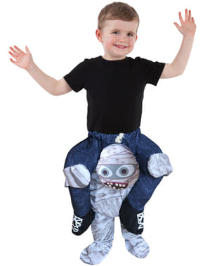 Disfraz a hombros de momia infantil
