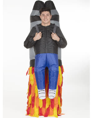 Inflatable Rocket Jetpack Costume for Adults