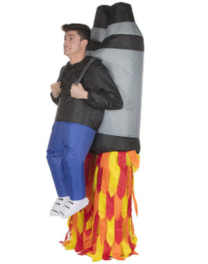 Disfraz de cohete jetpack hinchable para adulto