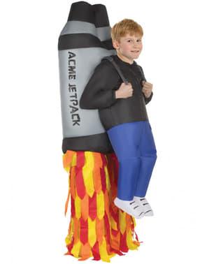 Aufblasbares Raketen Jetpack Kostüm für Jungen