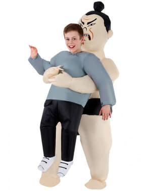 Aufblasbares Sumoringer Kostüm für Kinder