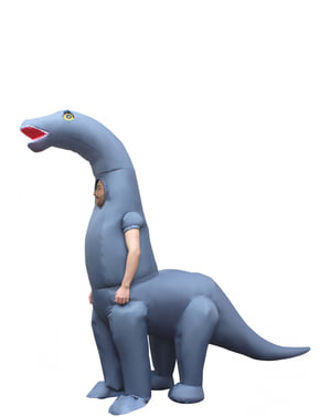 Costume da dinosauro Diplodocus gonfiabile per adulto