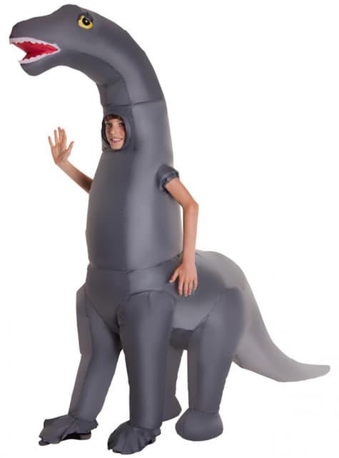 Aufblasbares Diplodocus Kostüm für Kinder