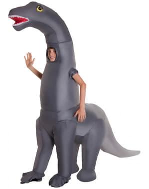 Disfarce de dinossauro Diplodocus insuflável para criança