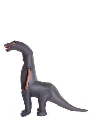 Opblaasbaar Diplodocus dinosauruskostuum voor kinderen