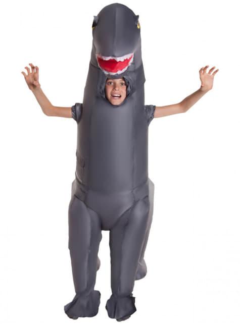 Disfraz de diplodocus hinchable infantil