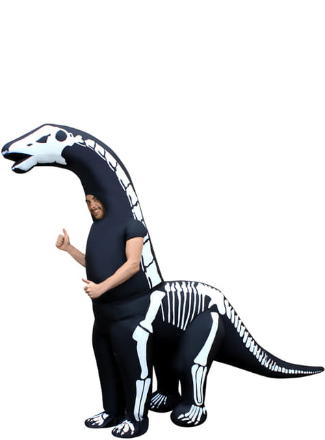 Inflatable skeleton diplodocus costume for adults