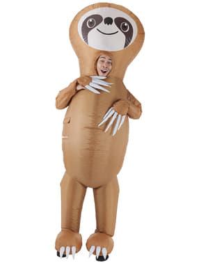 Costum de urs leneș gonflabil pentru adult