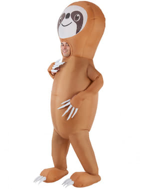 Inflatable sloth costume for adults