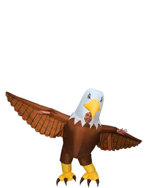 Inflatable eagle costume for adults