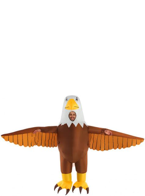 Disfraz de águila hinchable para adulto - traje