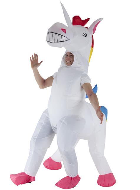 Déguisement licorne gonflable adulte