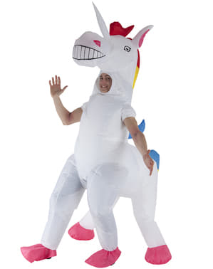 Inflatable unicorn costume for adults