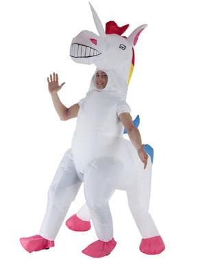Oppusteligt enhjørning kostume til voksne